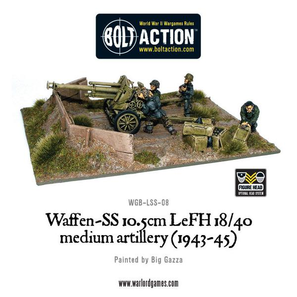 Bolt Action: German: Waffen SS 10.5cm LeFH 18/40 medium artillery (1943-45)
