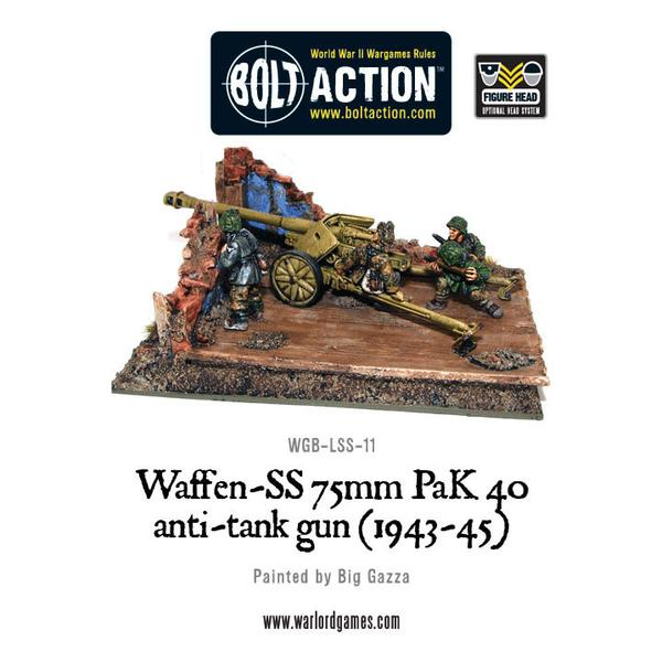 Bolt Action: German: Waffen SS 75mm PaK 40 anti-tank gun (1943-45)