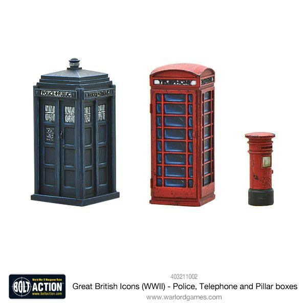 Bolt Action: Great British Icons (WWII) - Police, Telephone and Pillar boxes
