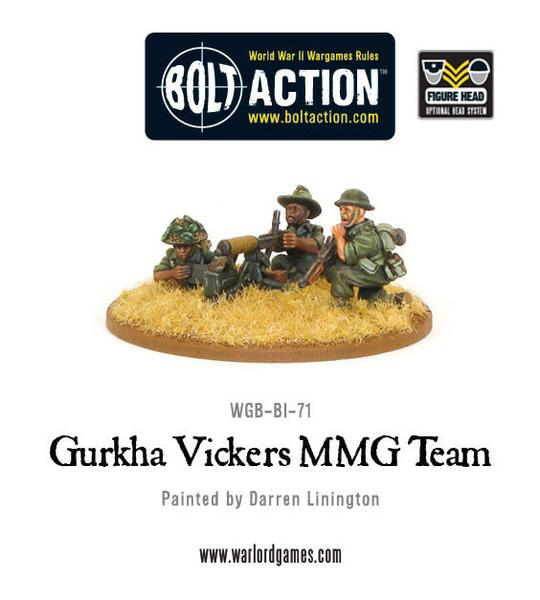 Bolt Action: Gurkha Vickers MMG Team
