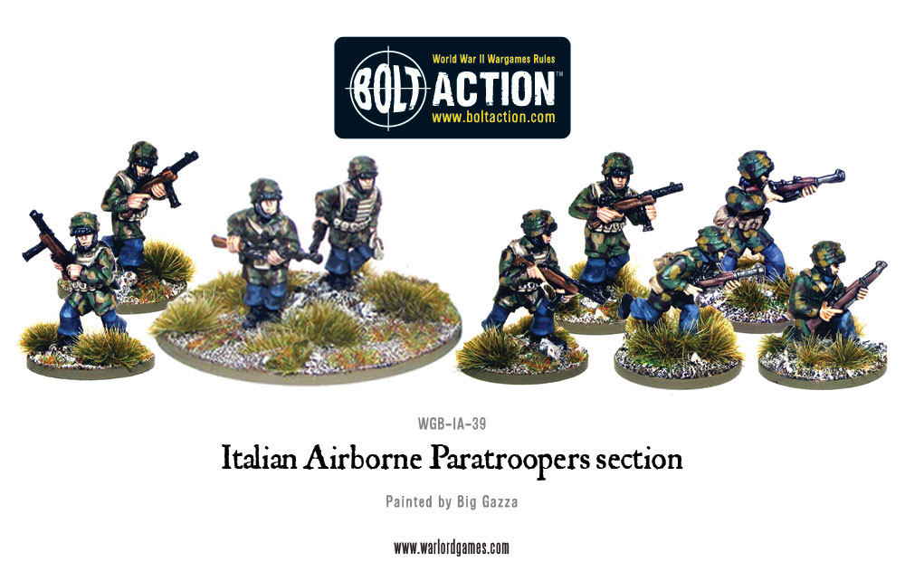 Bolt Action: Italian: Airborne Paratroopers Section