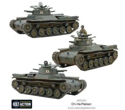 Warlord Games - Bolt Action: Japanese: Chi-Ha Tank Platoon