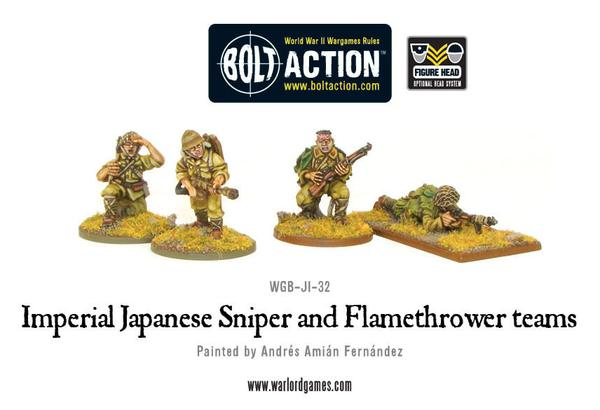 Bolt Action: Japanese: Sniper and Flamethrower teams