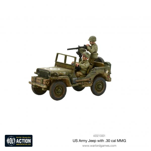 Bolt Action: USA: US Army Jeep with 30 Cal MMG