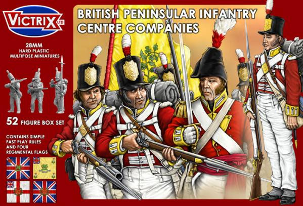 Victrix 28mm: British Peninsular Infantry Centre Companies