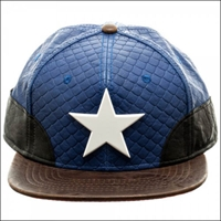 CAPTAIN AMERICA - PU Snapback Blue with White Star