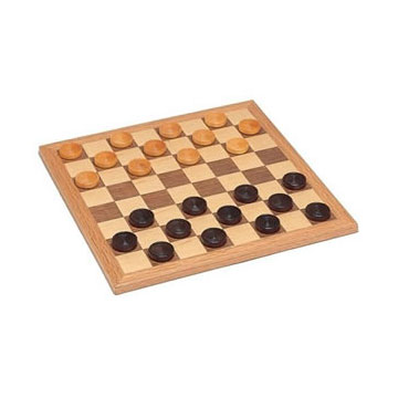 "CHECKERS 12"" WALNUT NATURAL WOOD"