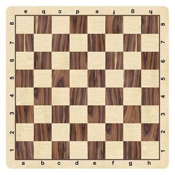 CHESSBOARD MOUSEPAD, FAUX WOOD 20""