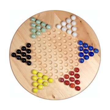 "CHINESE CHECKERS 11.5"" WOODEN [Damaged]"