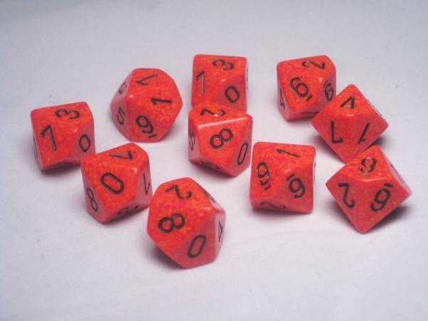 Chessex (25103): D10: Speckled: Fire