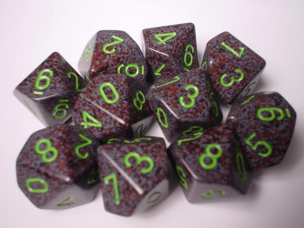 Chessex (25110): D10: Speckled: Earth