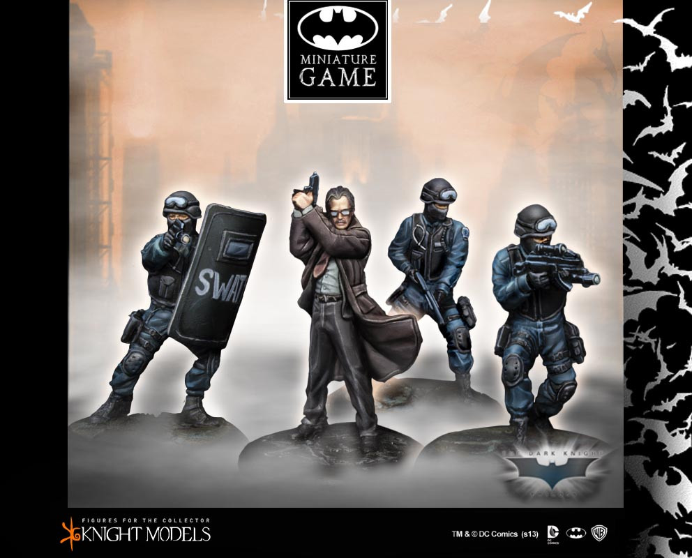 Batman Miniatures Game 046: Commissioner Gordon & Swat Team (Dark Knight Rises)