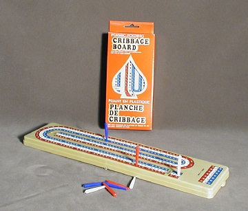CRIBBAGE : FOLDING TRAVEL SET