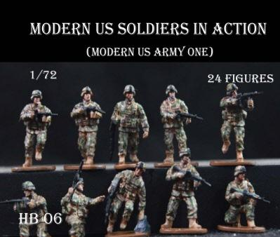 Caesar Miniatures: Modern US Soldiers In Action