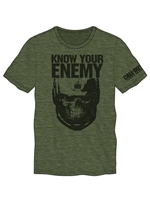Call Of Duty: INFINITE WARFARE - Know Your Enemy Military Green Mens Tee (Large)