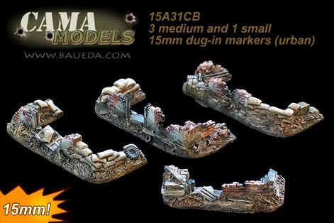 Cama Scenics: 15mm WWII Battlefield Accessories: Dug-In Markers