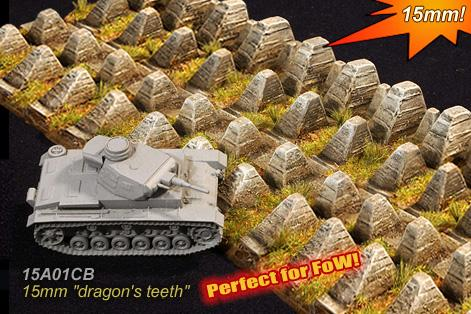 Cama Scenics: 15mm WWII Battlefield Accessories: Dragons Teeth