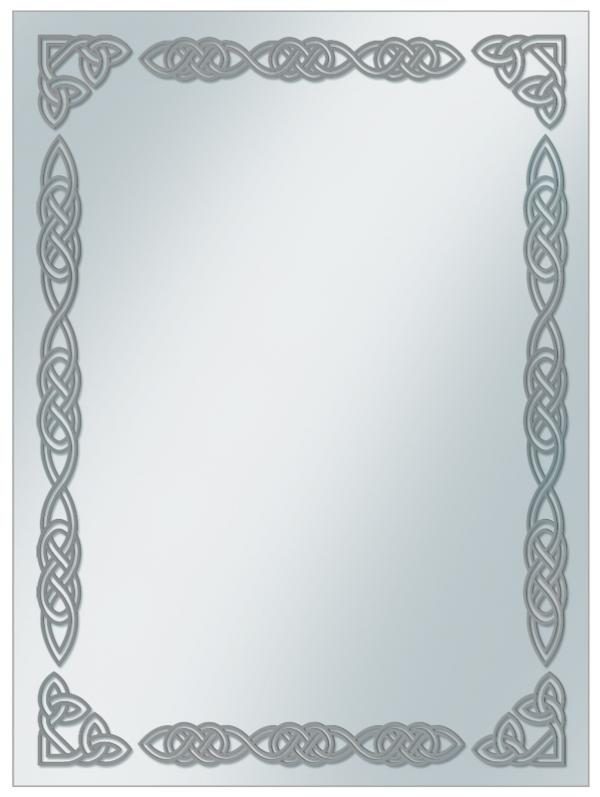 Card Sleeve Covers: SILVER CELTIC BORDER