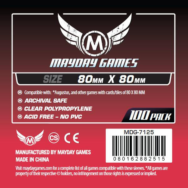 Mayday: Red Label: Card Sleeves (100) 80mmx80mm