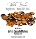 Black Powder Napoleonic Wars: British Casualty Markers