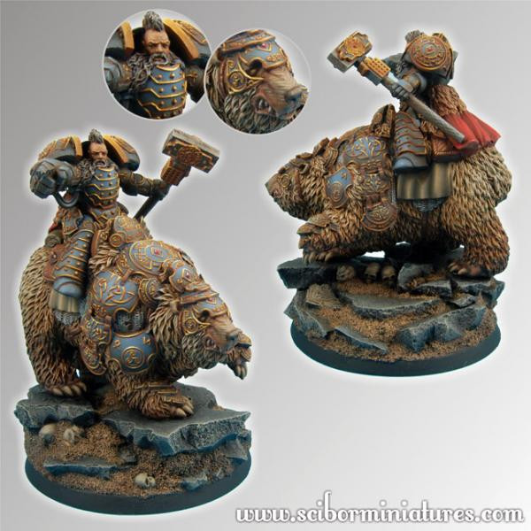 Scibor Monstrous Miniatures: Celtic SF Bear Rider #2