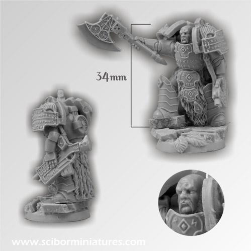 Scibor Monstrous Miniatures:  SF Celtic Warrior