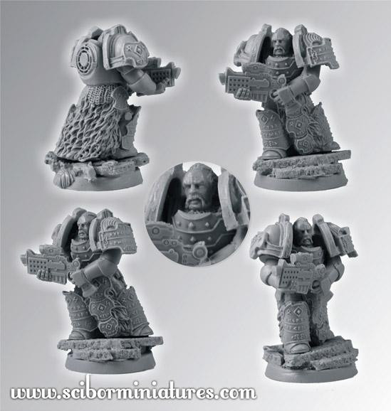 Scibor Monstrous Miniatures: SF Celtic Veteran #3