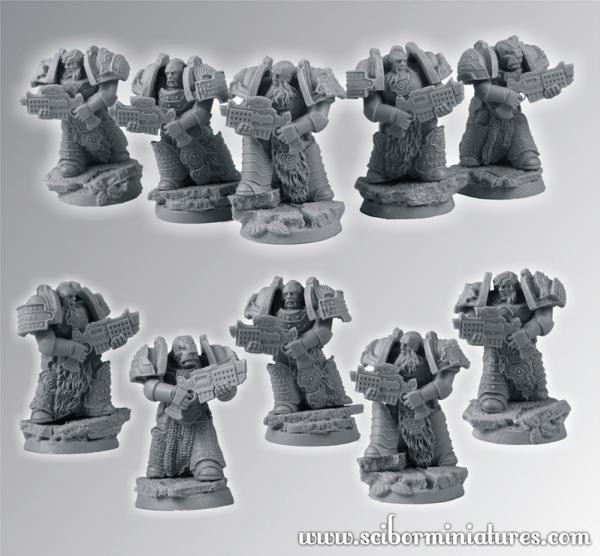 Scibor Monstrous Miniatures: SF Celtic Veteran Squad