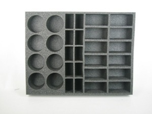 Battlefoam: WH40K: Chaos Space Marines: Tray: 8 Spawn 10 Medium Model 12 Bike