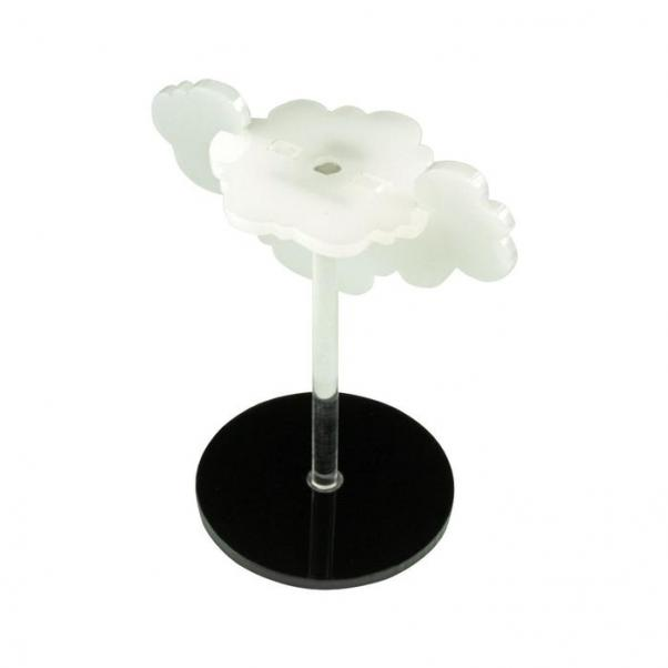 Character Mount: Flying Cloud with 2-inch Circle Base - Translucent White