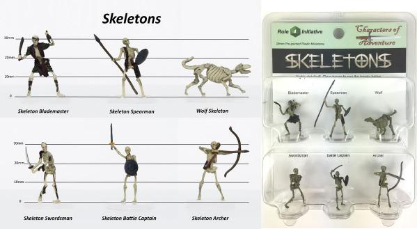 Characters of Adventure- Fantasy: Skeletons
