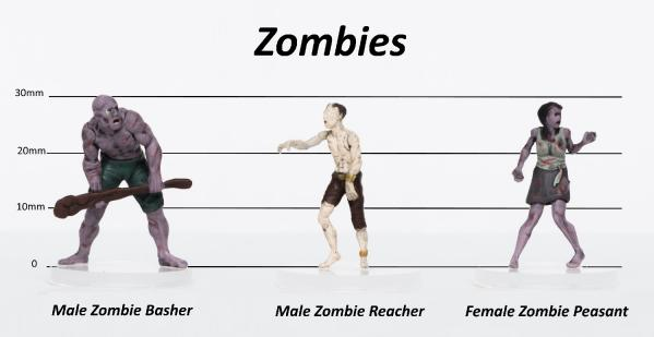 Characters of Adventure- Zombies: Set B