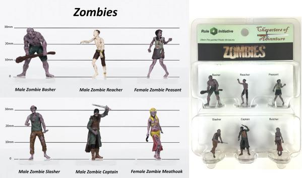 Characters of Adventure- Zombies: Set of 6