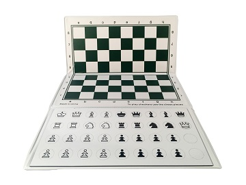 Chess: Checkbook Magnetic White/Green Board