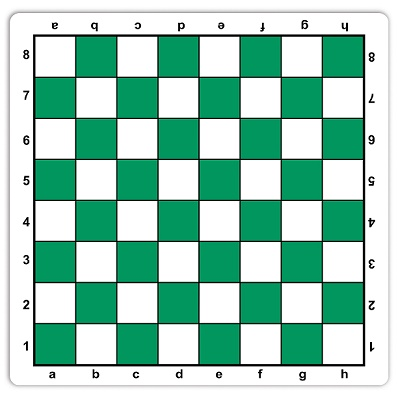 Chess: Chessboard Roll-Up Mousepad Green with Notation