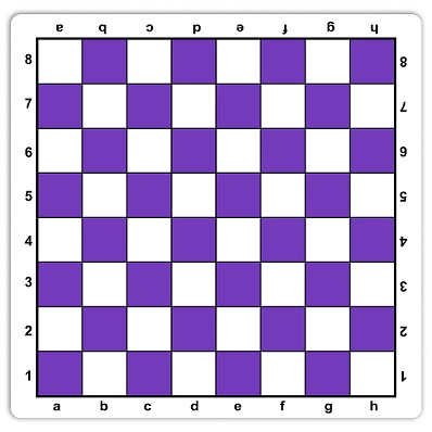 Chess: Chessboard Roll-Up Mousepad Purple with Notation