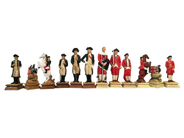 Chess: Revolutionary War Chess Pieces (Handpainted Non-Traditional)
