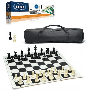 Chess: Roll-Up Black Vinyl Board
