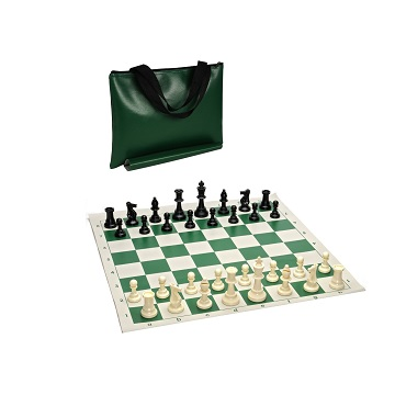 Chess: Roll-Up Green Vinyl Board
