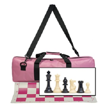 Chess: Roll-Up Pink Vinyl Board