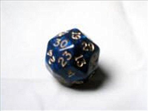Chessex: d30- Gold Shimmer Polyhedral Blue/Gold