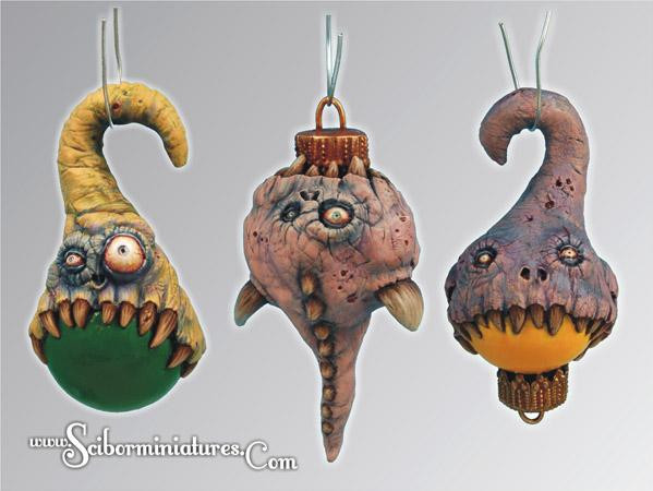 Scibor Monstrous Miniatures: Christmas Monstrous Bulb set (3)