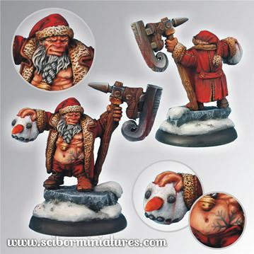 Scibor Monstrous Miniatures:  Christmas Snowman Slayer