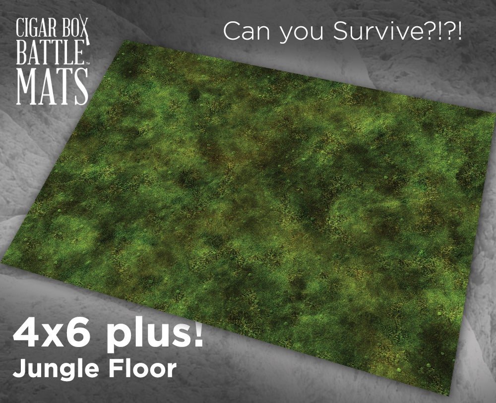 Cigar Box Battle Mat: Jungle Floor (4x6+)
