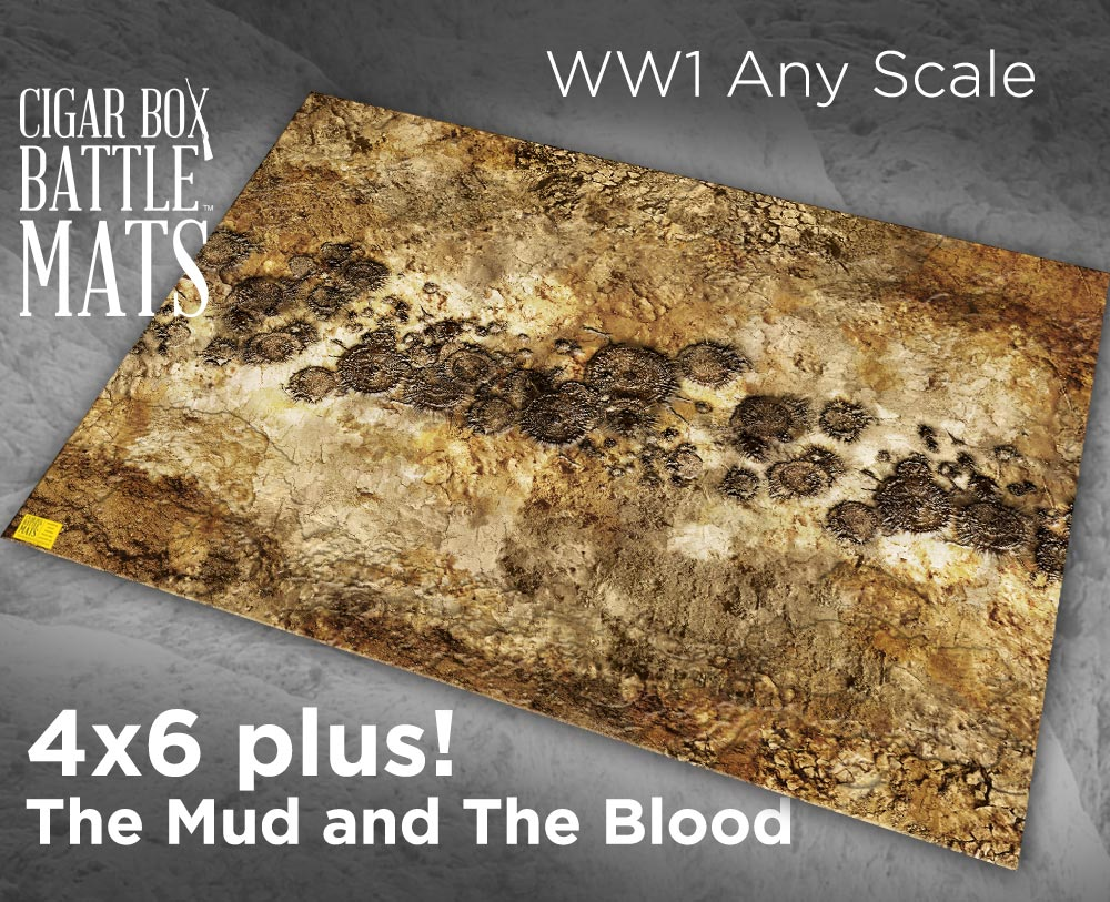 Cigar Box Battle Mats: The Mud and The Blood (4x6+)