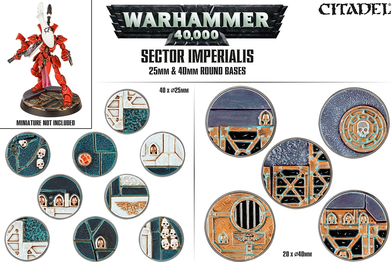Citadel: SECTOR IMPERIALIS: 25mm & 40mm Round Bases