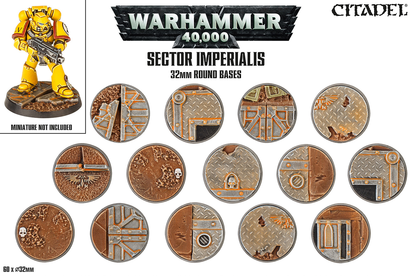 Citadel: SECTOR IMPERIALIS: 32mm Round Bases
