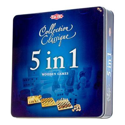 Classic Collection 5 In 1 Wooden Games