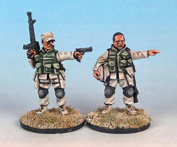 Black Scorpion Miniatures: US Marines: Command Team