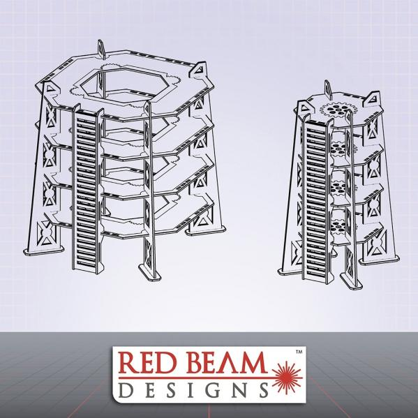 Complex Red: 4 Story Tower Set